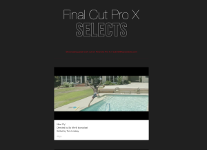 Final Cut Pro X selects