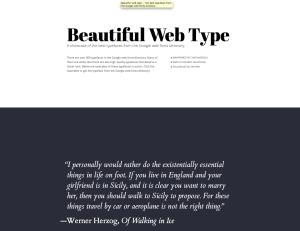 beautiful web type Typography App: