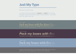 just my type:  Typographic Application