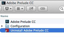 uninstall CC Application