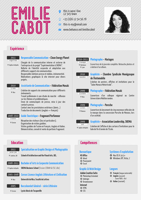Really Cool ResumeCool Modern Resume Very Clean Easy To Read